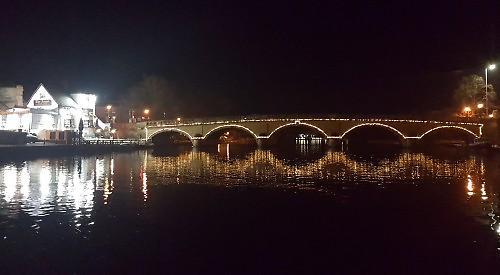 Artist Lights Up Henley Bridge