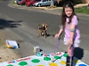 Trampoline girl, 6, bounces back after breaking ankle
