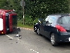 Cars badly damaged at accident blackspot