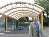 Pupils can learn and have fun outdoors thanks to school's £55,000 canopy