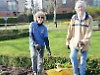 Volunteers replant flower beds ready for spring