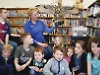 Birds of prey swoop into library for children's workshop