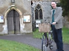 Cycling vicar who cried in class for believing in God
