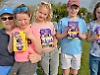 Children rewarded with chocolate after Easter egg hunt