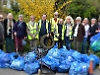 Volunteers collect waste around village including bin!