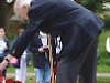 Ex-serviceman lays wreath to mark D-Day anniversary