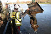 VIDEO: Mermaid statue rescued from river