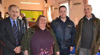 Residents of Binfield Heath with Warren Buckley, BT Openreach managing director