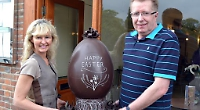 Visitor stunned to win Easter egg raffle