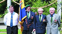 Burma veterans lay wreaths at service