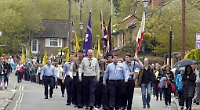 Scouts walking down Greys Road