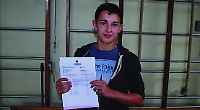 Dominic awarded A* in 15 subjects