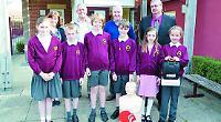 School defibrillator for use by everyone