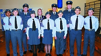 Air Cadets on parade