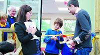 Pupils unveil new £500,000 teaching block at village school