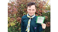 Boy raises £470 for charity with 10-hour sponsored walk