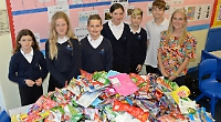 Pupils collect 5,000 empty crisp packets for recycling