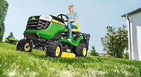 John Deere walk-behind and ride-on lawnmowers are on special offer