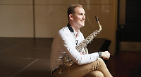 Sax star Huw will be right at home