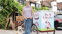 Woman 'sick' after theft of £3,000 ice cream tricycle