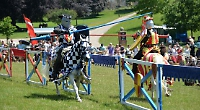 Just like ye days (and knights) of olde at Stonor Park jousting tournament