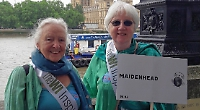WI members join climate change demonstration in Westminster