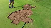 Vandals damage golf club course