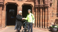 Cyclist visits all 42 English cathedrals for water charity