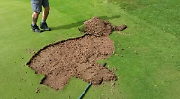 Golf green vandalised twice