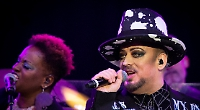 Hat's the way to do it! Boy George more than had it covered