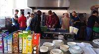 Pupils prepare breakfast at centre for homeless
