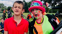 Families get together at special school's barbecue day