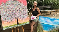Summer weather inspires artist's new paintings