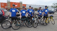 Six student friends cycle to Paris for mental health charity