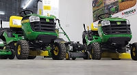 John Deere walk-behind and ride-on mowers are on offer