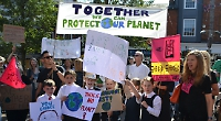 Children take part in climate strike