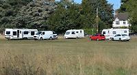 Travellers moved by police after camping on common