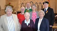 Legion women's standard laid up at church