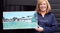 Artist's pavilion painting to be sold at club fund-raiser