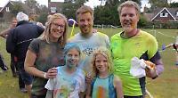Families splattered at school's fund-raising fun run