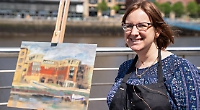 Artist brushes off defeat in TV painting competition
