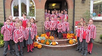 Pupils celebrate Harvest and Halloween