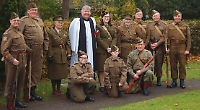 Historians pay tribute at grave of serviceman