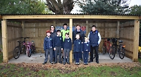 Primary school unveils new bike shed with 20 racks