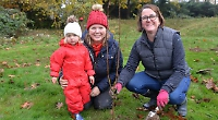 Pupils help plant 150 trees at village primary school