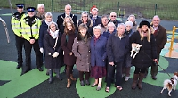 Residents delighted with £70,000 refurbishment of play area