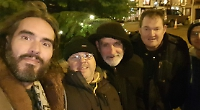 TV comedian visits brave foursome who join Big Sleep Out