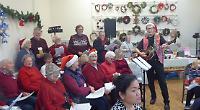Volunteer drivers sing carols for charity