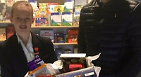 Hamper gift to food bank