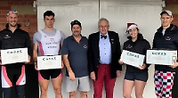 Rossiter's team take turkey sculls honours on dry land